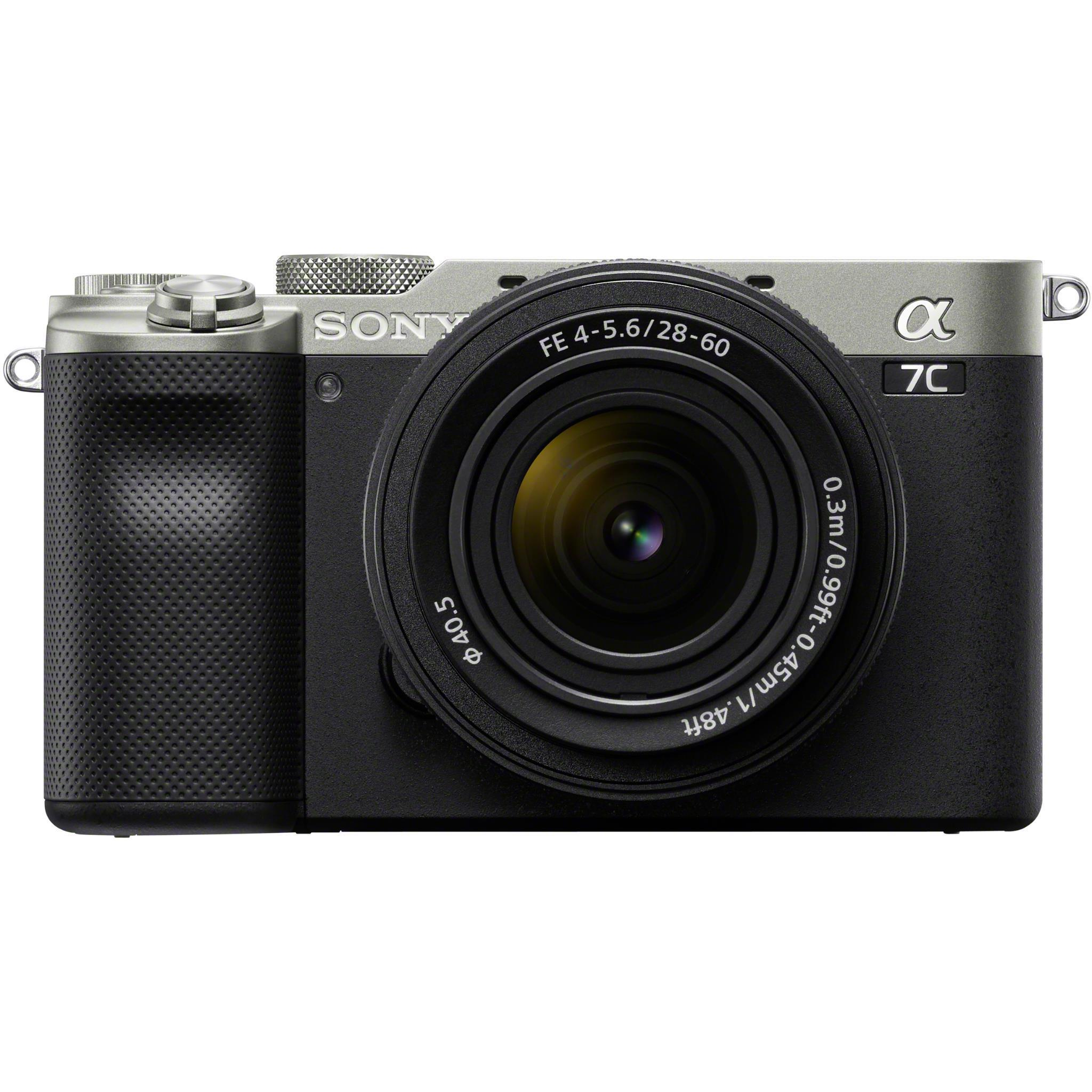 Sony Alpha a7C Full Frame Mirrorless Camera with 28-60mm Lens Kit (Silver)
