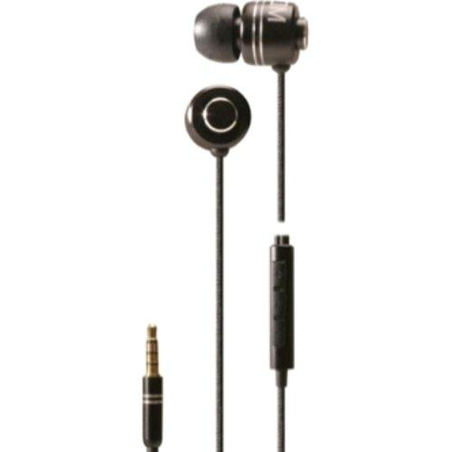 Boom CMB Lightweight Commander in-Ear Headphone with Microphone, Black