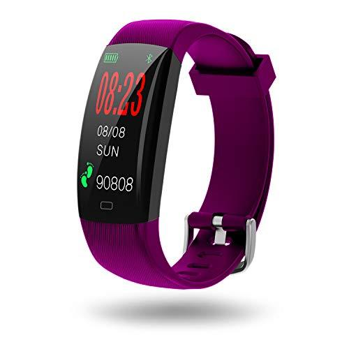 SZMDLX Fitness Tracker, Touch Activity Tracker Smart Bracelet   IP68 Waterproof   GPS   Remote Control Camera Music   Weather Forecast   Heart Rate   Sleep Monitor   Pedometer Calorie Watch for Kids Women Men