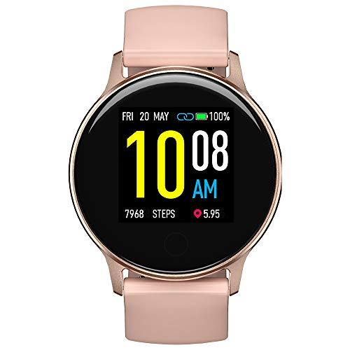 Smartwatch Fitness Watch Women, UMIDIGI Uwatch 2S Fitness Tracker Bluetooth Smart Watch Waterproof 5ATM Heart Rate Monitor Pedometer Sports Activity Tracker for Android iOS-Rose Gold