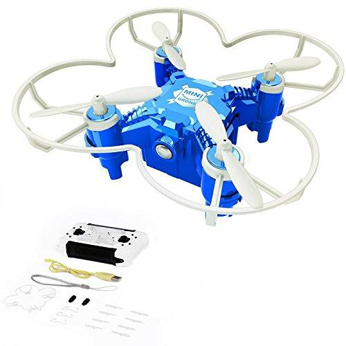 rainbow yuango Pocket Drone 4CH 6Axis Gyro Quadcopter with Switchable Controller Helicopter Toys Camera Optional(Blue)