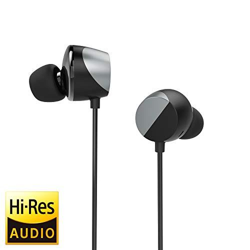 TUNAI Drum Hi-Resolution Audiophile in-Ear Earbud Headphones – Powerful Bass and Lively Sound Stage with Improved Noise Isolation; Comfortable for Workout, Running and Great for Gaming (Silver)