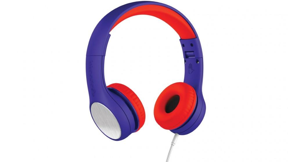 LilGadgets Connect plus Style Children's Wired Headphones – Blue/Red