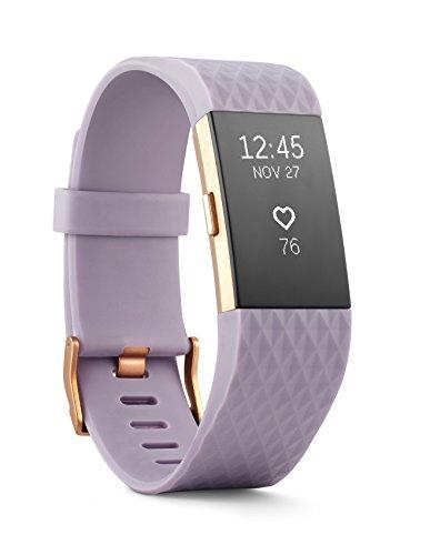 Fitbit Charge 2 Health and Fitness Tracker, Large – Lavender Rose Gold