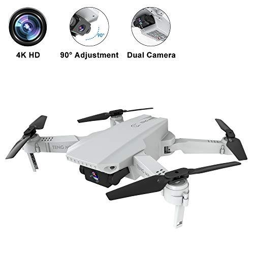 B-Qtech Drone with Dual Camera, 4K HD Self-Driving WiFi Optical Flow RC Quadcopter for Adults & Kids & Beginners