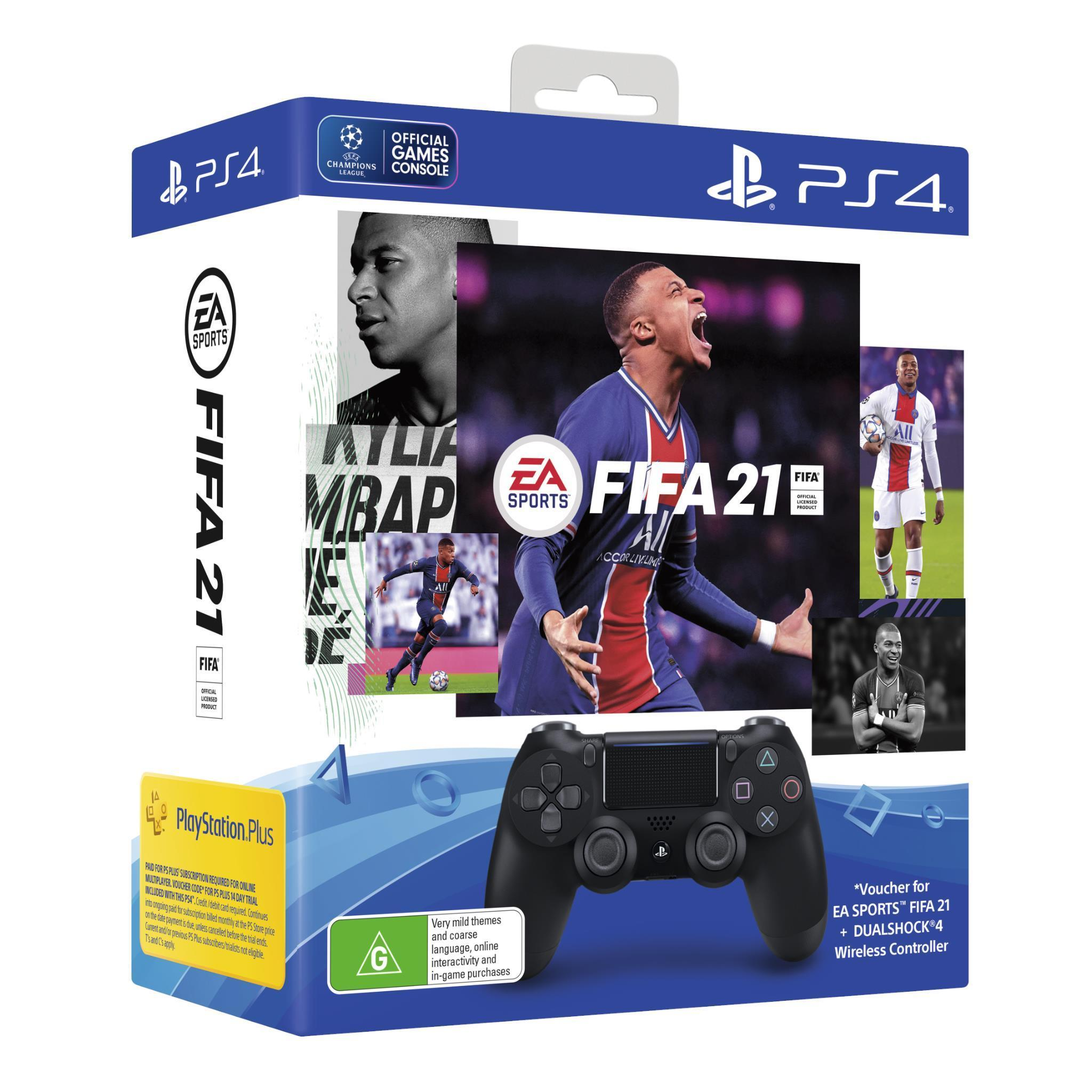 PS4 PlayStation 4 Dualshock 4 Wireless Controller FIFA 21 Bundle