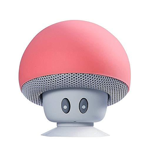 Sudroid Mushroom Mini Wireless Portable Bluetooth 4.1 Speakers with Mic for iPhone Ipad Laptop Samsung HTC Lg Sony Cell Phones (red)