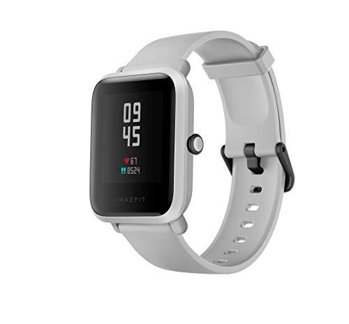 Amazfit Bip S Fitness and Activities Tracker with Built-in GPS,5ATM Waterproof,Heart Monitor, Music,40 Days Battery Life Smart Notificatons Bluetooth 5.0 / BLE for Andriod and iOS (White Rock)