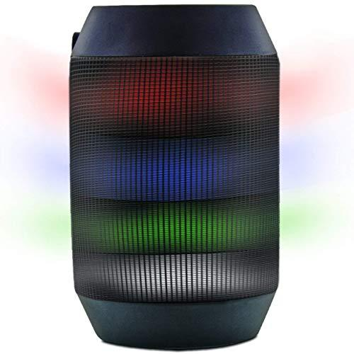 Aduro Amplify LED Bluetooth Wireless Speaker – Color Changing Rave Light Show Party Speaker (BrightSound Mini)