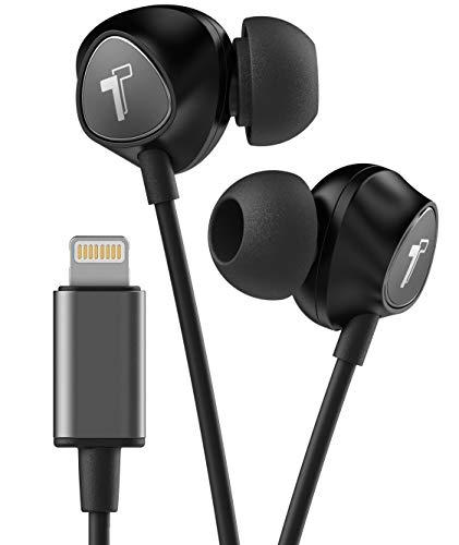Thore Wired iPhone Headphones with Lightning Connector Earphones – MFi Certified by Apple Earbuds (Black) Wired in Ear w/Remote Microphone Volume (w/Mic) for iPhone XR, XS Max (Retail Packaging)