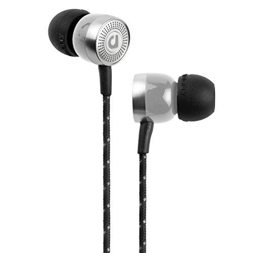Audiofly AF45C MK2 Wired In-Ear Headphones, With Microphone and Volume Control, Silver