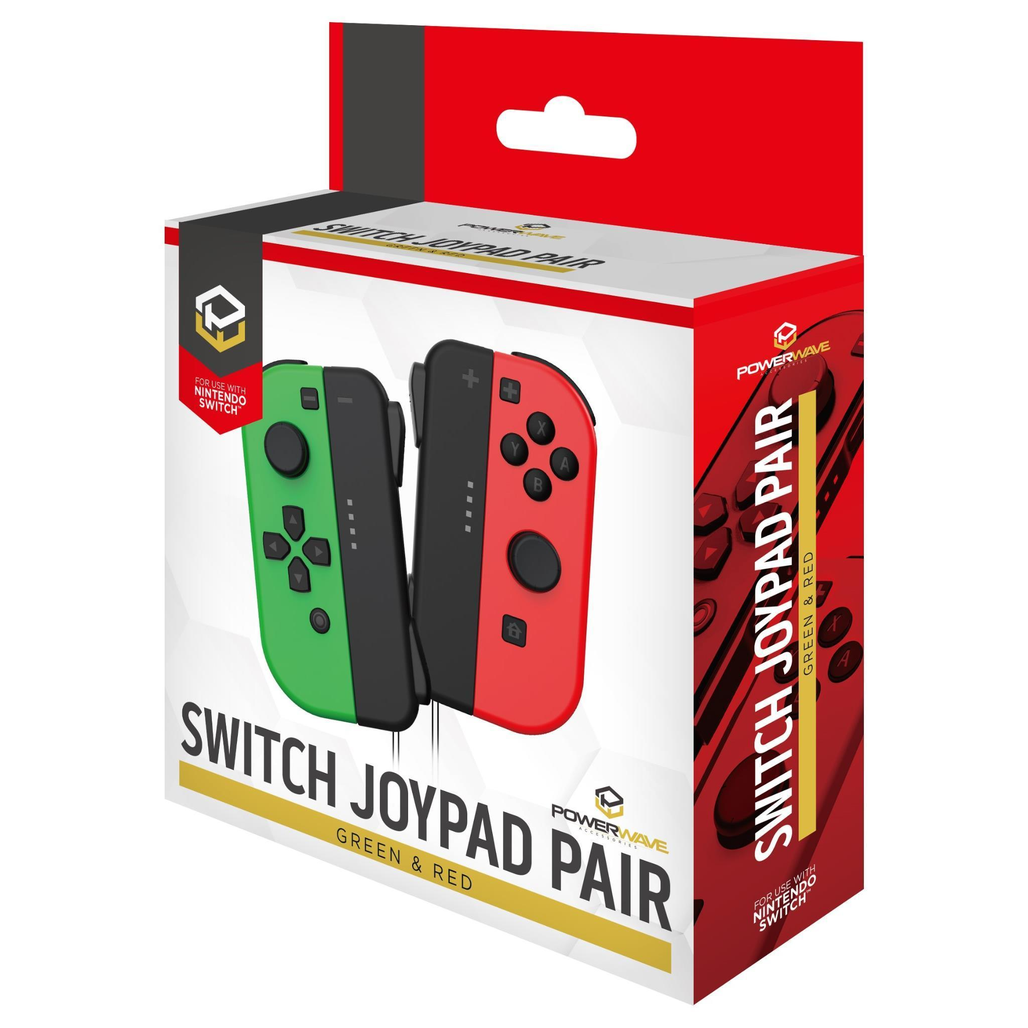 Powerwave Switch Joypad Pair Green & Red for Nintendo Switch