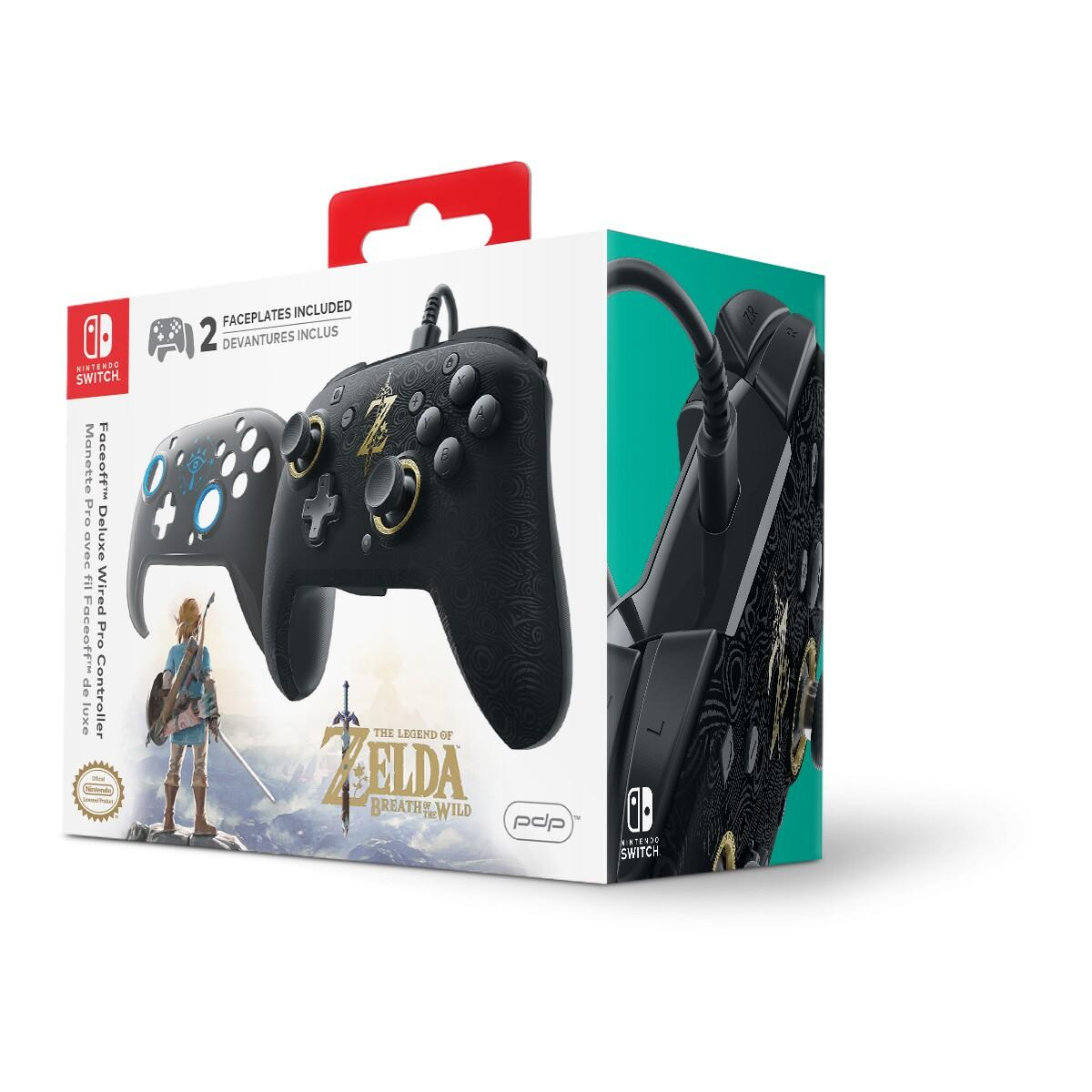 Nintendo Switch Faceoff Deluxe Wired Controller (Breath Of The Wild Edition)