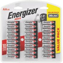 Energizer Max AA Battery 30 Pack
