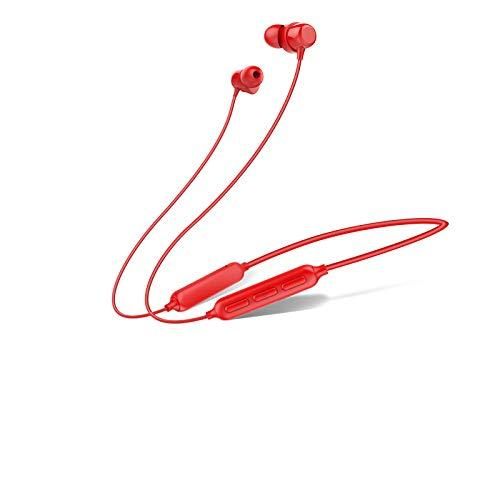 Havit Bluetooth Motion Headset,Noise Reduction Stereo Metal bass,Waterproof and Sweat Resistance (Bright Red)