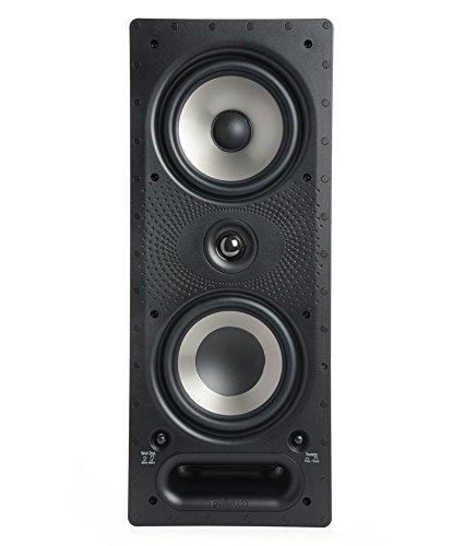 Polk Audio 265-RT 3-Way in-Wall Speaker – The Vanishing Series   Easily Fits in Ceiling/Wall   High-Performance Audio – Use in Front, Rear or as Surrounds   with Power Port & Paintable Grille