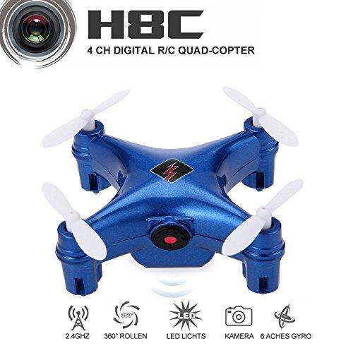 rainbow yuango WLtoys Remote Controlled Rechargeable Mini Set High WiFi Quadcopter with WiFi HD Camera(Blue)