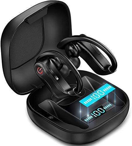New 2020 Wireless Earbuds, Wirless Earphone with Hook Sport Headphone ,Bluetooth Earphone ,Noise Cancelling ,Microphone,Water proof,Volume Control,LED Display Bluetooth 5.0 Earphone Stereo Wireless Earbuds ,Waterproof Headset with Charging Box Earpho