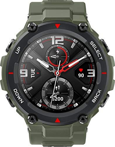 Amazfit T-Rex Smart Watch with Military Certifications, Tough Body, 20-Day Battery Life and Excellent GPS Performance (Army Green)