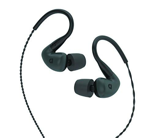 Audiofly AF140 Wired In-Ear Earphones, with Audioflex Cable and Noise Isolating Ear Tips, Fader Grey