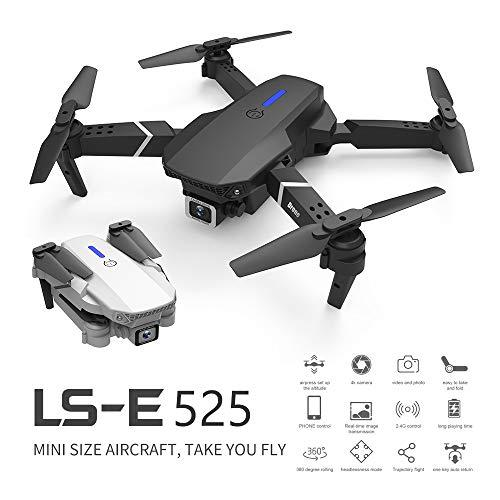 Fordable Drone with 4K Double HD Camera 2.4G WiFi FPV RC Quadcopter (Black) Gesture Control with Carry Case, 3 Batteries