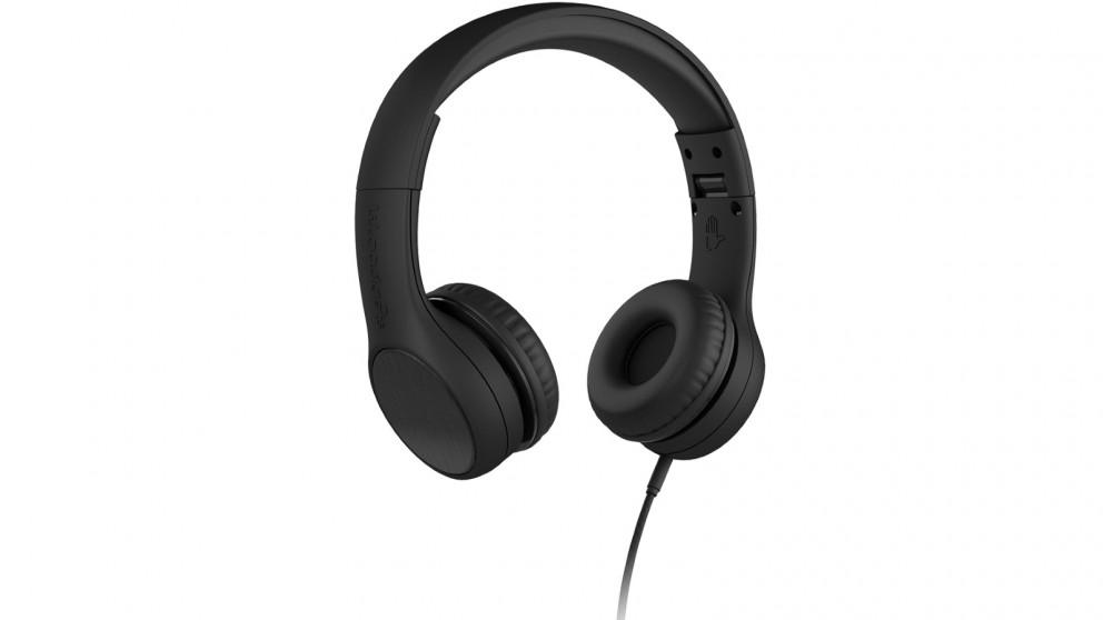 LilGadgets Connect plus Style Children's Wired Headphones – Black