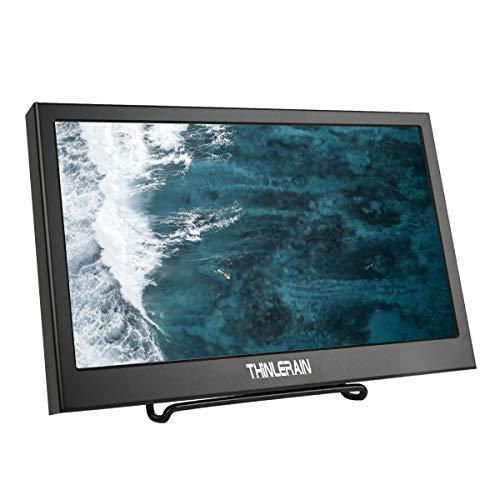 Thinlerain 15.6 inch HDMI VGA Portable Monitor, Full HD 1920 x 1080P IPS LED Display Monitor for Raspberry Pi, Camera, Security Monitor, Xbox360, PS3, PS4, Windows 7 8 10, Laptop