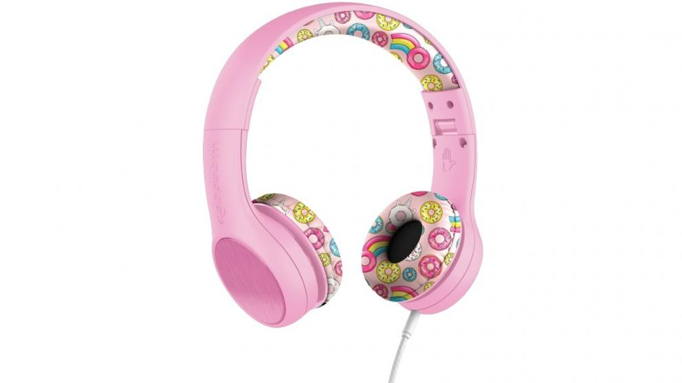 LilGadgets Connect plus Style Children's Wired Headphones – Pink Doughnuts
