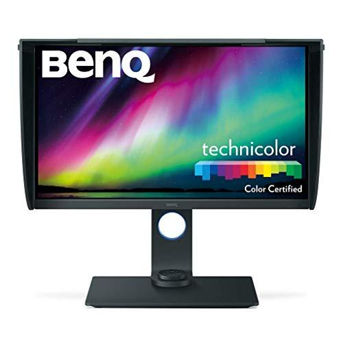 BenQ 27 inch 4K PhotoVue Photographer Monitor (SW271), 3840×2160 UHD, HDR, 99% Adobe RGB, 100% sRGB, Rec.709, DCI-P3 Colour Space, Hardware Calibration, IPS,14-bit 3D LUT, GamutDuo, USB-C, DP, HDMI