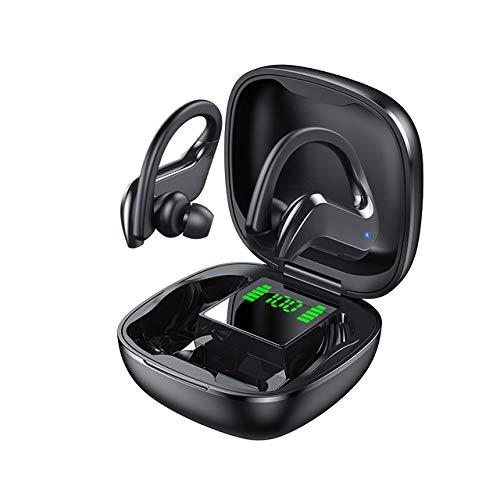 PTN Bluetooth Earbuds, Hanging Ear Bluetooth Headset, Bluetooth 5.0 Wireless Earbuds with Wireless Charging Case, Smart Touch, HiFi-Level Sound Quality, Suitable for Exercise, Running, Fitness