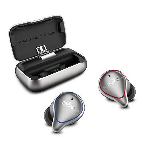 [Update Version 2020] mifo O5 True Wireless Earbuds, One-step pairing Bluetooth 5.0 Sport headset,100Hrs playtime with 2600mAH Charging Case, Hi-Fi Stereo in Ear Earphones, Headphones for Running/gym, Built-in Mic