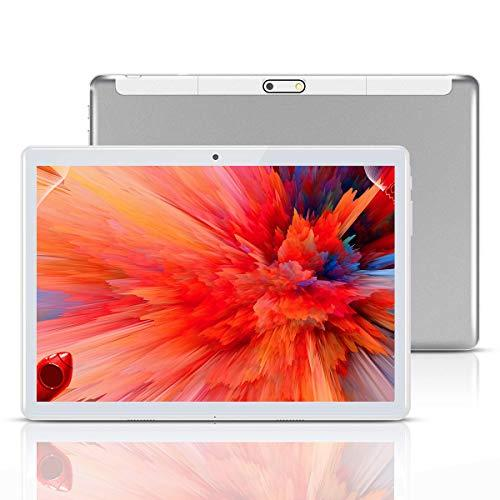 Android Tablet 10 Inch,Tablets PC 10.1″,HD,3G, 8.1, WiFi, GPS, GSM, Octa Core, 64GB ROM, 4GB RAM, Dual Sim Card, (Silver)