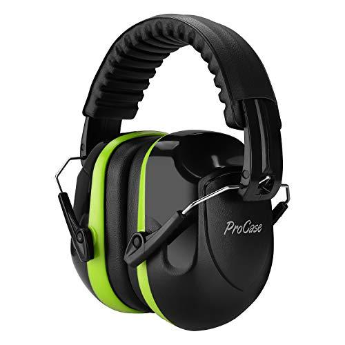 ProCase Noise Reduction Ear Muffs, NRR 28dB Shooters Hearing Protection Headphones Headset, Professional Noise Cancelling Ear Defenders for Construction Work Shooting Range Hunting -Green