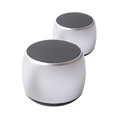 OKCSC NO1 Mini Bluetooth Speaker-Magnetic Wireless Bluetooth Speaker-Bluetooth Rechargeable Mini Speaker-Stereo Sound, Enhanced Bass, Built-in Mic for iPhone/IPad/Andriod/Samsung/Tablet,Sliver