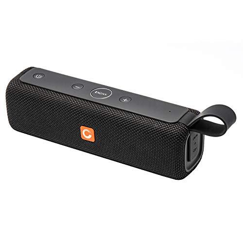 DOSS E-go II Portable Bluetooth Speaker with Great Sound and Extra Bass, IPX6 Waterproof for Home and Outdoor, Built-In Mic, 2x6W Drivers, 12-Hour Playtime, Wireless Speaker for Phone,TV, Tablet and More