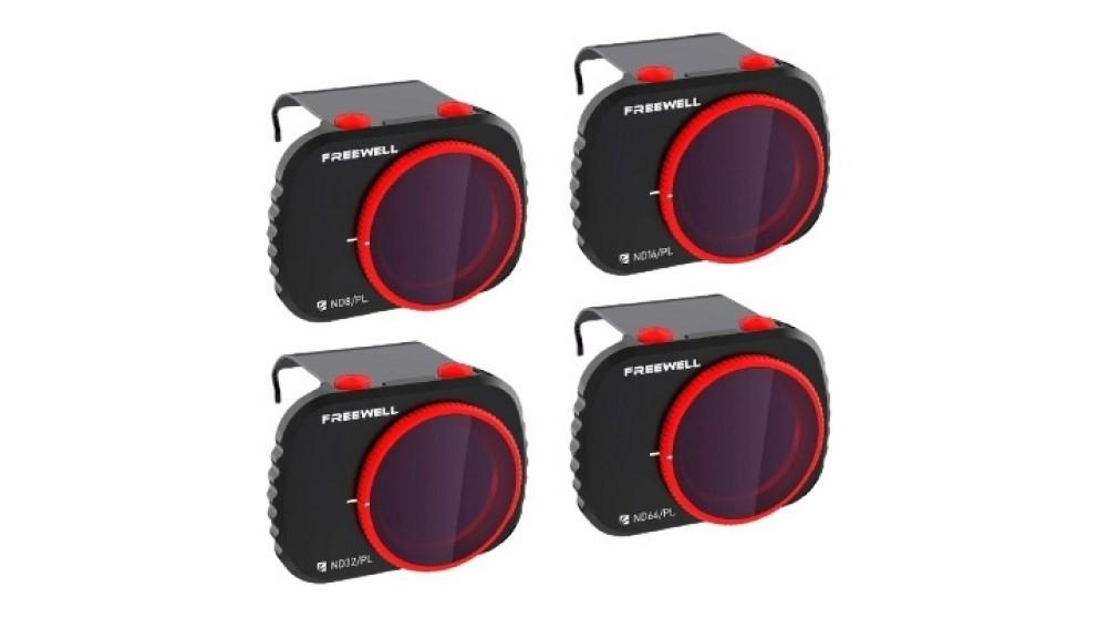 Freewell 4-pack Bright Day Series Filter Set for Mavic Mini (ND8/PL ND16/PL ND32/PL ND64/PL)