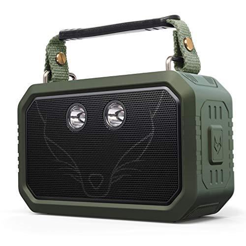 DOSS Traveler Wireless Portable Bluetooth Speakers with Waterproof IPX6, 20W Stereo Sound and Bold Bass, 12H Playtime, Durable for Phone,TV, Tablet, Gift Ideas – Green