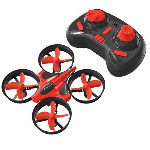 Mini Drone for Kids, EACHINE E010 2.4GHz 6-Axis Gyro Remote Control Best Quadcopter Nano Drone for Adults Beginners – Headless Mode, 3D Flip, One Key Return (Red)