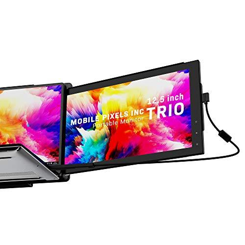 Mobile Pixels Trio/Trio Max Portable Monitor System USB A USB C Plug and Play Mac PC Linux (Trio 12.5″ Monitor)