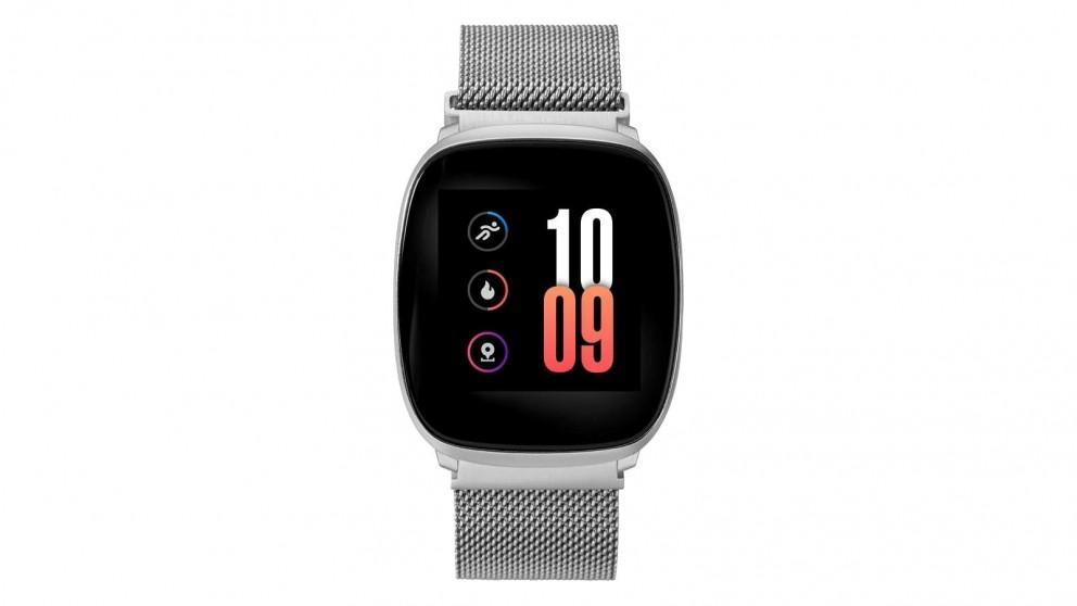 iConnect by Timex Premium Active 36mm Mesh Bracelet Smartwatch – Silver