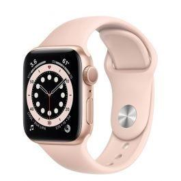 Apple Watch S6 GPS Gold Aluminium Case Pink Sand Sport Band 40mm