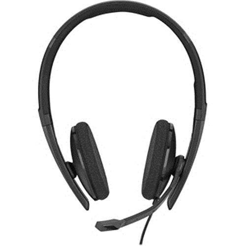 Sennheiser SC 160 USB (508315) – Double-Sided (Binaural) Headset for Business Professionals | with HD Stereo Sound, Noise Canceling Microphone, USB Connector (Black), Black