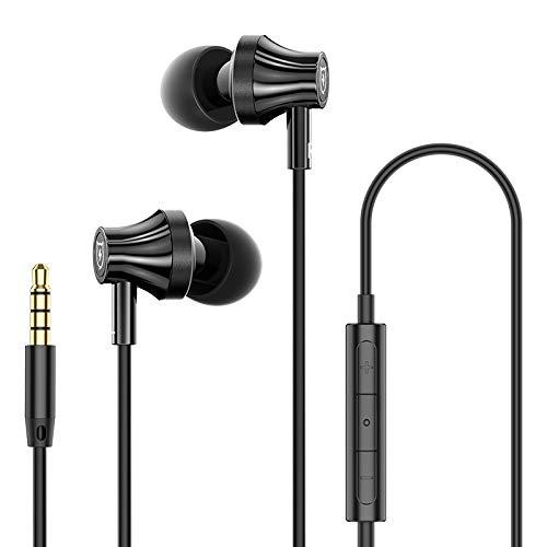 SMARTDEVIL MR10 Wired Universal in-Ear Headphone Noise Isolating for Smartphones Earphone with Microphone and Volume Control 3.5mm, Black