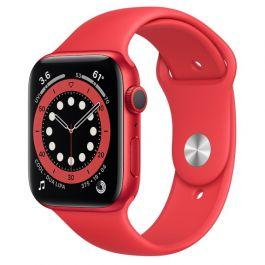 Apple Watch S6 GPS Red Aluminium Case Red Sport Band 44mm