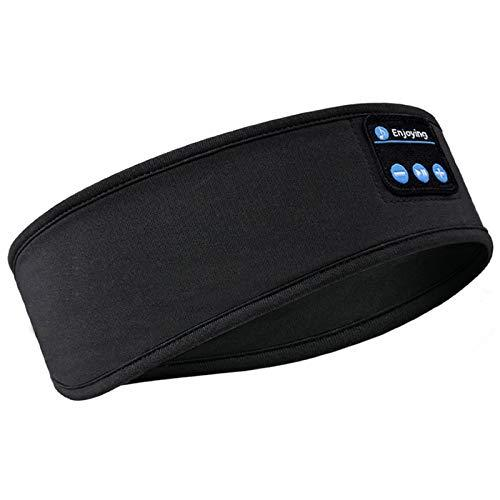 Sleep Headphones Bluetooth Headband,Upgrage Soft Sleeping Wireless Music Sport Headbands, Long Time Play Sleeping Headsets with Built in Speakers Perfect for Workout, Running, Yoga (Black)