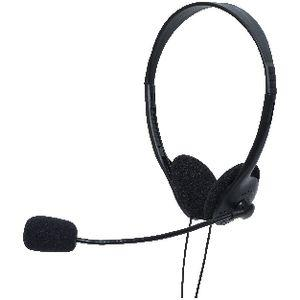 Keji Single Plug PC Headphones Black
