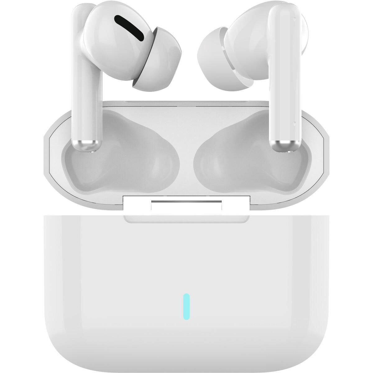 EKO True Wireless Touch Control Earphones with Wireless Charge – White