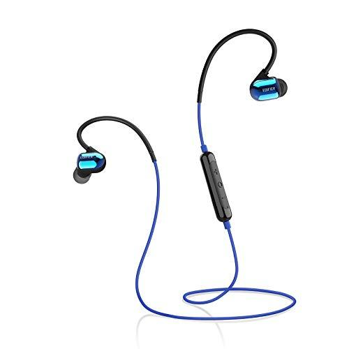 Edifier W295BT Plus IPX5 Waterproof Bluetooth Earphones with On-Ear Playback Controls and Multi-Point Support – Blue