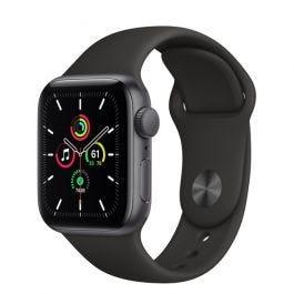 Apple Watch SE GPS Space Gray Aluminium Case Black Sport Band 40mm