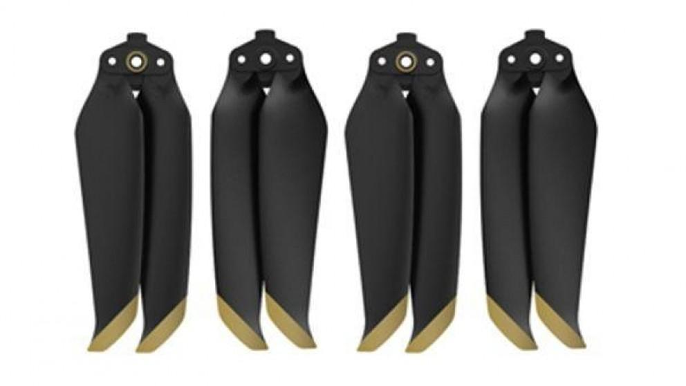 SunnyLife 2x Pairs 7238F Low Noise Propellers for Mavic Air 2 (Golden Tip)